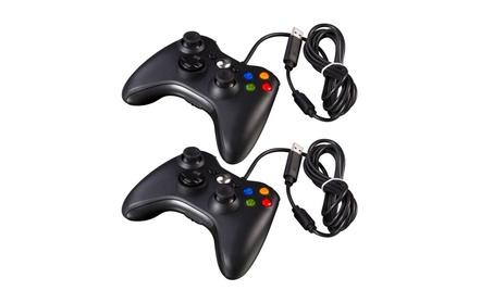 Black Wired USB Game Pad Controller For Microsoft Xbox 360 PC Windows 36802bf7-51f5-4e82-a471-a6f477fbc015