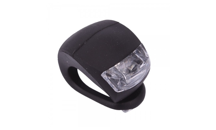 Waterproof Double Red LED Light with Black Silicone for Bicycle