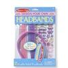 Melissa&Doug Design-Your-Own Headbands Jewelry-Making Kit 50+ Stickers
