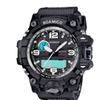 Dual Display Analog Digital LED Electronic Quartz Wrist Watch