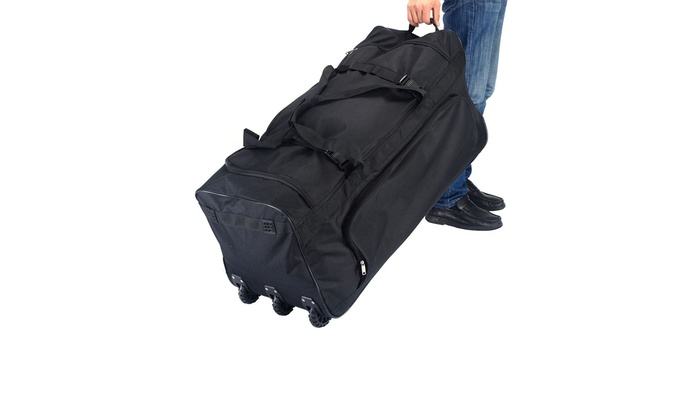 9565b5a76daf 36'' Rolling Wheeled Tote Duffle Bag Luggage Travel Duffle Suitcase ...