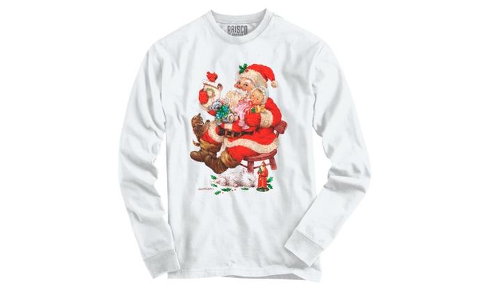 Jolly Santa Checking List  Long Sleeve T-Shirt