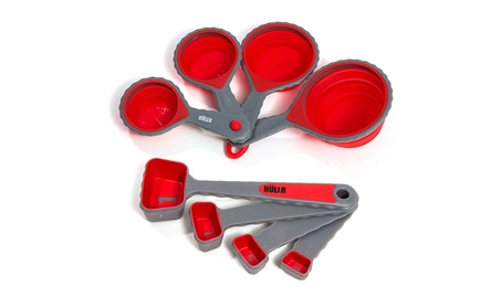 HULLR Collapsible Measuring Cups and Measuring Spoons - 8 Piece Set a9d2ae0f-c525-46ce-8003-e5b64847d62d