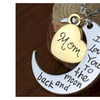 2Tone Mom I Love You To The Moon and Back Necklace