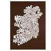 Michael Tompsett 'Chocolate-Ireland Text Map' Canvas Art