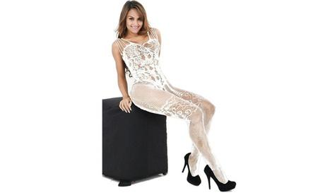 New Women Lingerie Jumpsuit Mesh Stockings See Through Women Lingerie Set