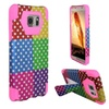 Insten Pink Dots Hard Hybrid Case W/stand For Samsung Galaxy Note 5