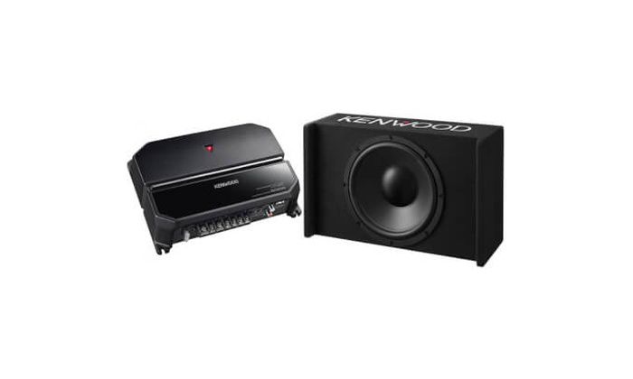 "Kenwood 12/"" Enclosed Subwoofer KAC-5207 WBOX120 with Amplifier"
