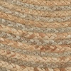 LR Home Natural Jute Gray Oval Indoor Area Rug