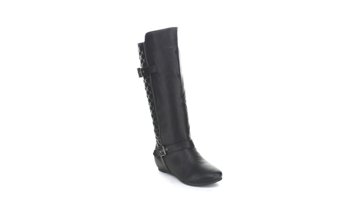 a7f6e5c480a Wild Diva Candies-142 Motorcycle Knee High Riding Boots