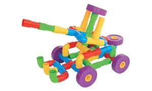 PicassoTiles 3D Pipe Puzzle Assembling Toy Set (136-Piece)
