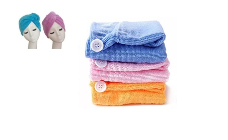 Perfect Absorbent Microfiber Hair Drying Turbans 656e8174-cfdf-428f-80a2-41cf0f586404
