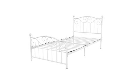 Topeakmart Single Twin Bed Frame Headboard White/Black Color NEW 9162318b-ddb1-46a9-805d-1f8a40cb3f97
