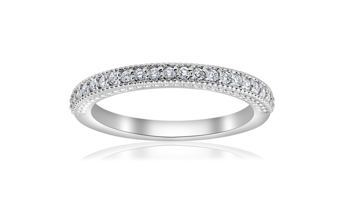 15ct Diamond Wedding Ring Stackable Anniversary Band 14k White Gold