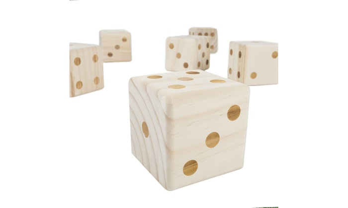 Hey Play Giant Wooden Outdoor Dice Game With Case Groupon
