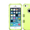 Insten Tuff Hard Hybrid Rubber Silicone Case For Iphone 5 5s Green