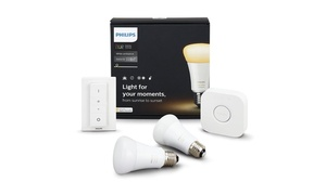 Philips Hue 2nd Gen White Ambiance Starter Kit with Dimmer Switch