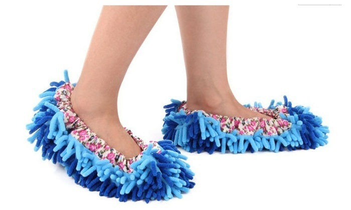 Washable Chenille Fibre Dust Mop Slippers