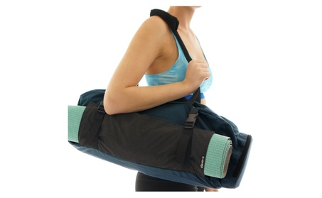 Yoga Mat Gym Bag Tote Carryall - Waterproof Bag + Harness Mat Carrier