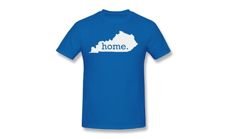 Homeland Tees Men's Kentucky Home State Royal Blue T-shirt For Men 050a96ed-7e61-4501-99ff-c06a0b3fcfe9