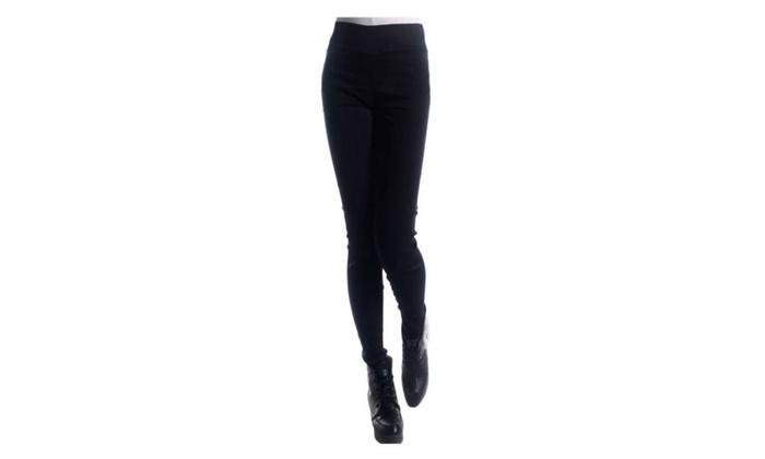 Petite Women High Waist Elastic Tight Legging Pants