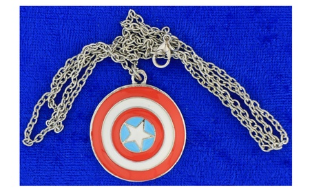 Captain America Shield Necklace or Keychain Avengers Movie Inspired 6179392d-b9ac-403b-9248-637d2177af23