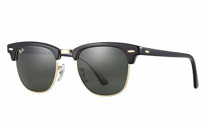 6ea9ebaf0c Shop Groupon Ray Ban Clubmaster Classic RB3016 51mm Sunglasses With G-15  Green Lens