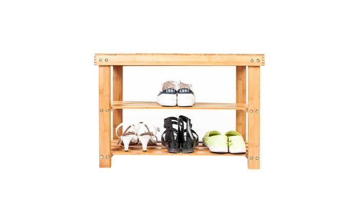 Outstanding 70 126 Cm Home Kids Wooden Shoe Rack Bench Groupon Onthecornerstone Fun Painted Chair Ideas Images Onthecornerstoneorg