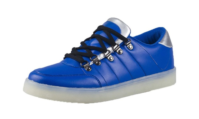 Men's Solid Lace Up Fashion Sneakers