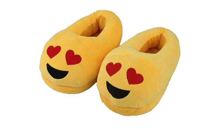 Best Quality Stuffed Love Smilie Emoji Bedroom Slippers Soft ...