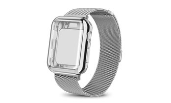 Mesh Milanese Wrist Band Loop W/ Screen Protector Bumper Case For Apple Watch