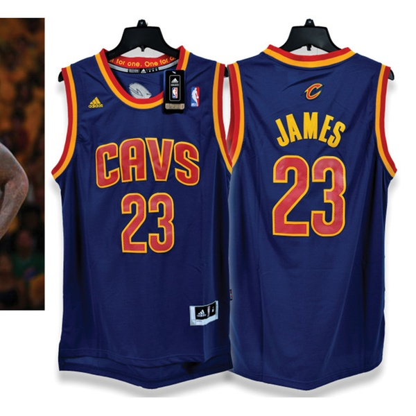 59e3f7b7a Lebron James Cleveland Cavaliers Navy Blue Jersey (Size Adult Medium) |  Groupon