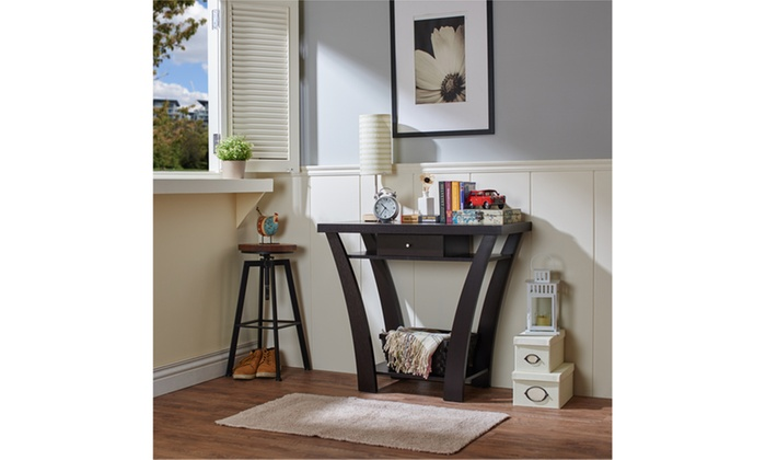Foyer Table Jcpenney : Effie black curved leg single drawer entryway table groupon