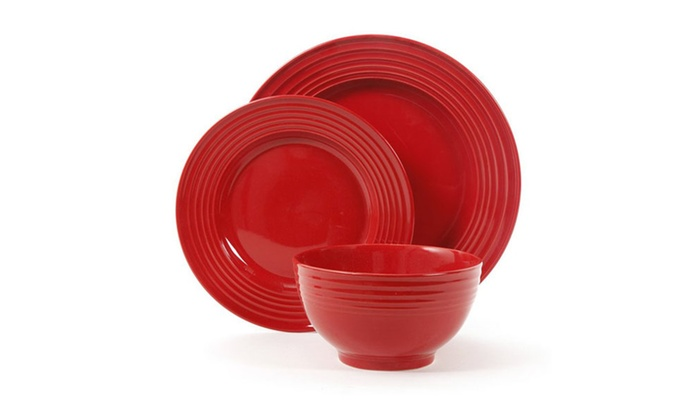 Plaza Cafe 12 Piece Dinnerware Set | Groupon
