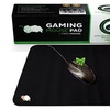 CushionCare Regular Size Black Gaming Mouse Mat Pad