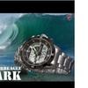 SHARK SH047 Men Digital Analog Lcd Chronograph Date Steel Quartz Watch