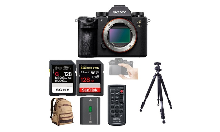 Sony a9 Full Frame Mirrorless Camera w/ Camera Accessories | Groupon