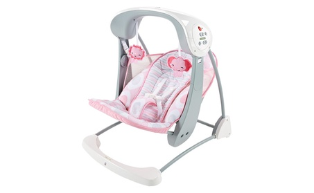 Fisher-Price Deluxe Take Along Swing and Seat, Pink/White 675cf19d-67ec-48d6-b92d-71aad6a49c70