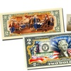 Colorized July 4th Independence Day $2 Bill