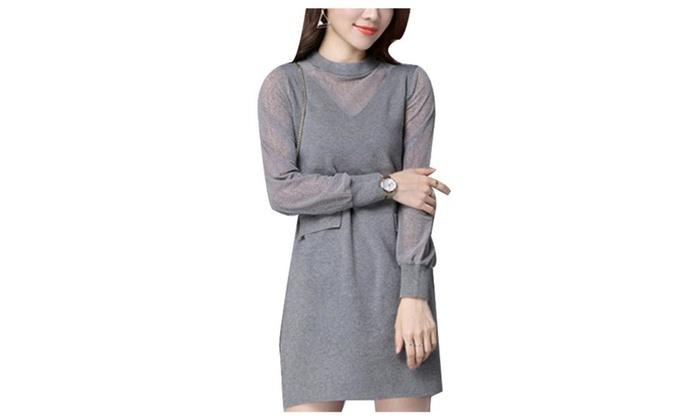Women's Fashion Cutwork Pullover Straight Hem Pullovers