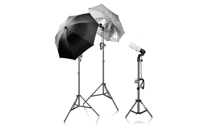 ... 600W Photography Light Photo Video Studio Umbrella Lighting Kit ...  sc 1 st  Groupon : photographer lighting kit - www.canuckmediamonitor.org