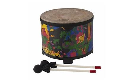 "Remo Kid's Percussion Floor Tom Drum - Fabric Rain Forest, 10"" 474786f5-e007-403c-a0bb-47b6ac77bc9f"
