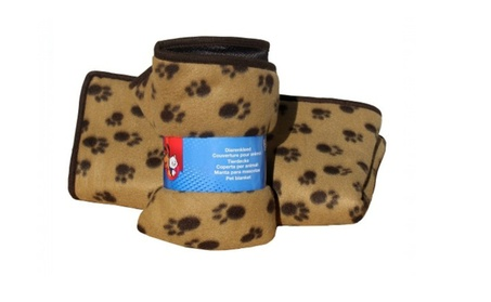 3 In 1 Paw Print Orthopedic Double Sided Blanket 67a16299-a212-4931-9de2-d87560615dcf