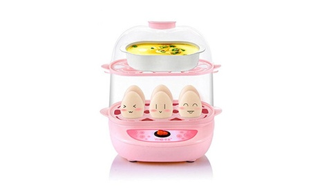 Yoice Multi-function Electric Two Layers 12Eggs Boiler Cooker Steamer bb845219-48b2-4720-971e-085341c93eec