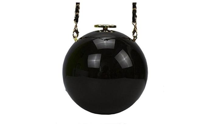 Women's Acrylic Mini Round Ball Shape Purse Evening Bag Clutch Handbag