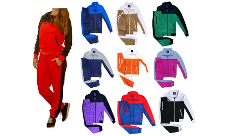 Women's Fashionary Jogger Track Jacket & Trackpants Tracksuit Outfit