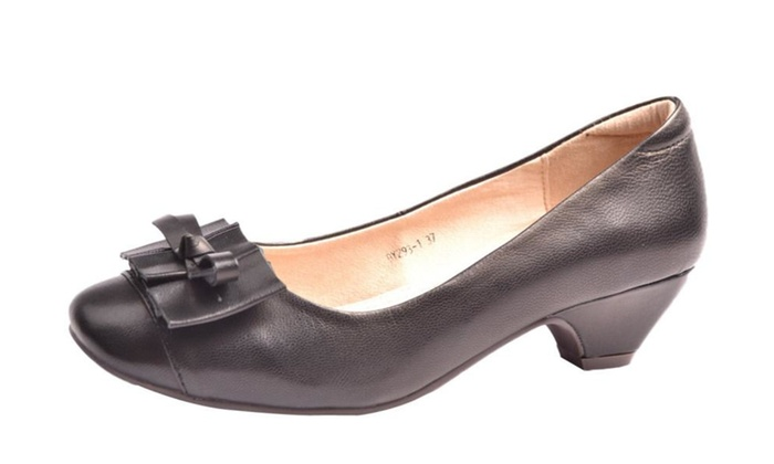 Women's Leather Slip-On High Heels