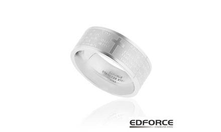 Edforce Stainless Steel Father Prayer Ring Groupon