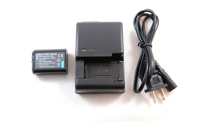Charger and Battery for Sony NP-FW50 BC-VW1 DSC-RX10 II DSCRX10II RX | Groupon
