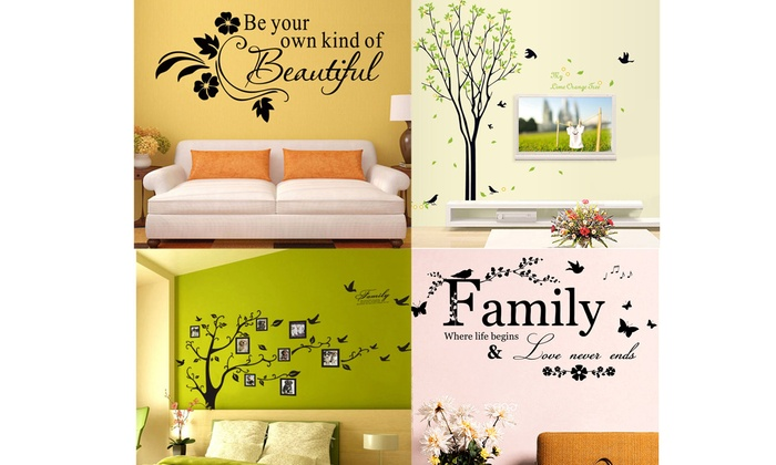 Up To 73% Off on Removable Family Bible Quote ... | Groupon ...